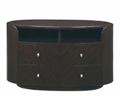 TV Console Elma in High Gloss Wenge Finish 35B28