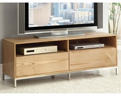 TV Stand Caden Natural and Chrome Finish Acme Furniture AC-91006