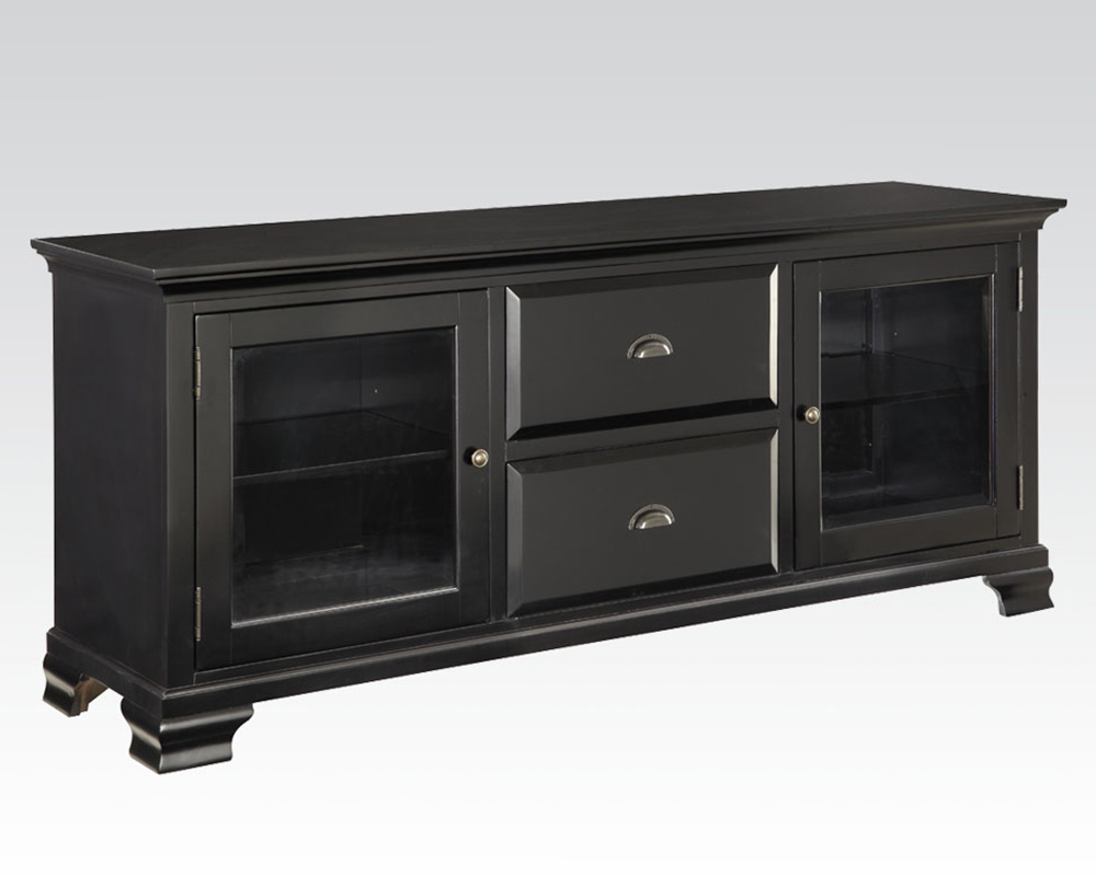 Tv stand in black by acme furniture ac