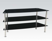 TV Stand in Black Tempered Glass by Acme Furniture AC91060