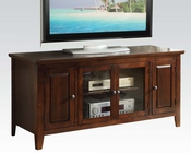 TV Stand in Dark Chocolate in Contemporary Style by Acme AC10346