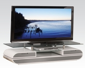 TV Stand w/ Clear Tempered Glass by Acme AC91142