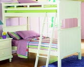 Twin/Twin Bunk Bed Pottery by Homelegance EL-B875W-1