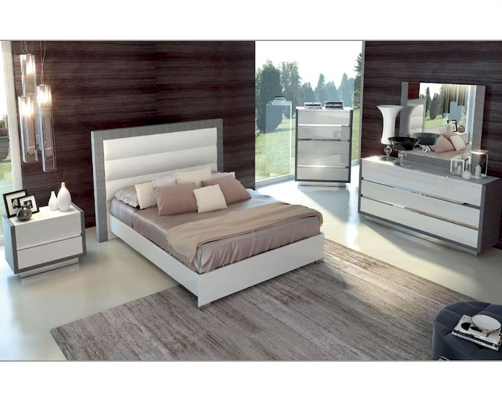 Two Tone Bedroom Set Mangano in Modern Style 3313MN