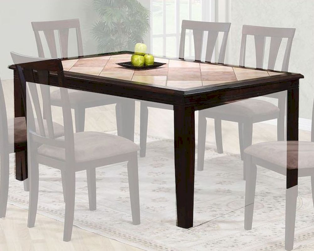 two tone dining table in cappuccino mo 6092tb. Black Bedroom Furniture Sets. Home Design Ideas