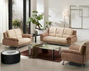 Two Tone Fabric Sofa Set 44L2823