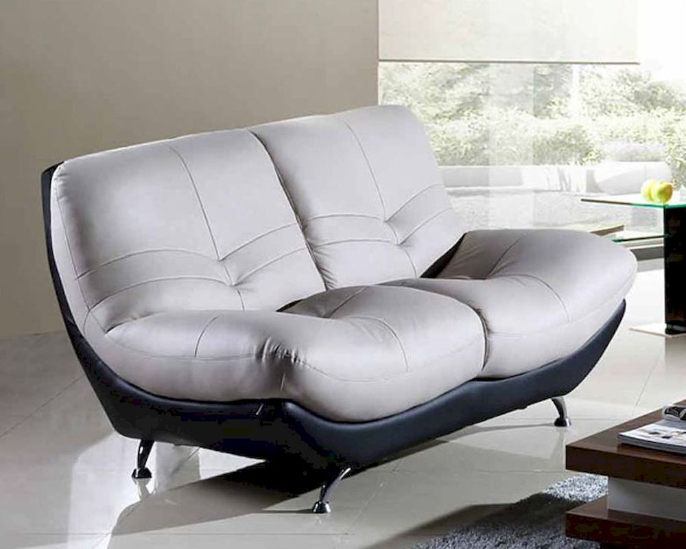 Two Tone Loveseat in Modern Style European Design 33SS253