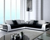 Two Tone Modern Leather Sectional Sofa Set 44LB333