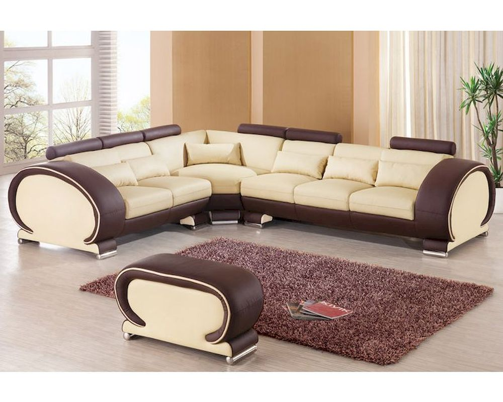 Two tone sectional sofa set european design 33ls201 for Sectional sofa or two sofas