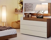 Two Tone Single Dresser and Mirror Elena 33190EL