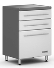 Ulti-MATE Storage 3-Drawer Base Cabinet in Starfire Pearl GA-04SW