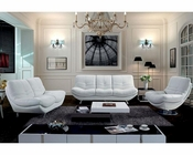 Upholstered in Authentic Leather Sofa Set 44L6052