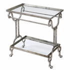 Uttermost Acasia Silver Tea Cart