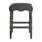 Uttermost Aiden Brown Gray Bar Stool