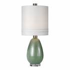 Uttermost Aileana Rust Green Glass Lamp