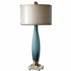 Uttermost Alaia Blue Glass Table Lamp
