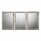 Uttermost Alcona Antiqued Silver Mirrors set of 3