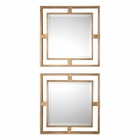 Uttermost Allick Gold Square Mirrors set of 2