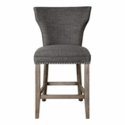 Uttermost Arnaud Charcoal Counter Stool