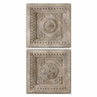 Uttermost Auronzo Aged Ivory Squares Set of 2