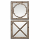 Uttermost Baci E Abbracci Wooden Mirrors set of 2