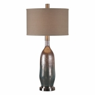 Uttermost Basola Olive Gray Glass Table Lamp