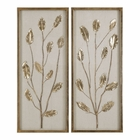 Uttermost Branching Out Gold Leaf Panels Set of 2