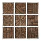 Uttermost Bryndle Rustic Wooden Squares Set of 9