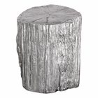 Uttermost Cambium Silver Tree Stump Stool
