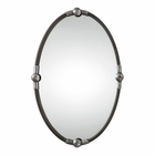 Uttermost Carrick Black Oval Mirror