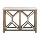 Uttermost Catali Ivory Stone Console Table