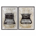 Uttermost Classic Typewriters Vintage Art, S/2