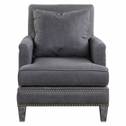 Uttermost Connolly Charcoal Armchair