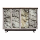 Uttermost Corban Aged Ivory Console Cabinet