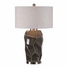 Uttermost Crayton Crackled Gray Table Lamp
