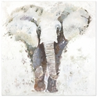 Uttermost Curiosity Hand Painted Elephant Art