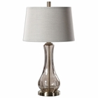 Uttermost Cynthiana Smoke Gray Glass Lamp