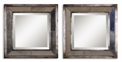 Uttermost Davion Squares Silver Mirror set of 2
