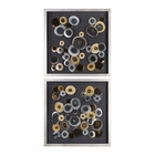 Uttermost Discs Wall Art Squares Set of 2
