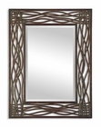 Uttermost Dorigrass Brown Metal Mirror