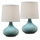 Uttermost Gabbiano Pale Blue Lamps, S/2