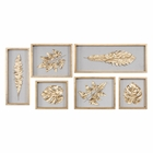 Uttermost Golden Leaves Shadow Box Set of 6