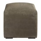 Uttermost Graves Gray Leather Ottoman