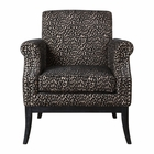 Uttermost Kaius Tan & Black Accent Chair