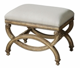 Uttermost Karline Natural Linen Small Bench