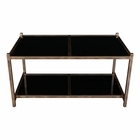 Uttermost Karol Black Glass Coffee Table