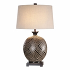 Uttermost Kelda Gloss Black Glazed Lamp
