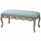 Uttermost Kylia Sky Blue Bench