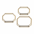 Uttermost Lindee Gold Wall Shelves Set of 3