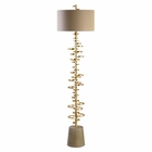 Uttermost Lostine Modern Gold Floor Lamp